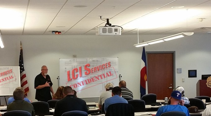 Tim teaching Rolling Surveillance to law enforcement task forces at the DEA.