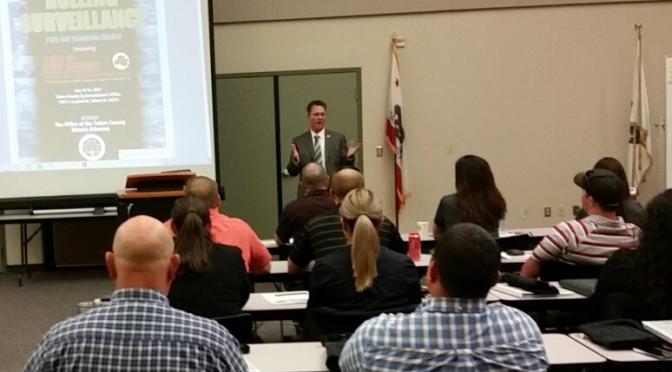 Tulare, CA Rolling Surveillance Training 2017
