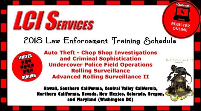 2018 Law Enforcement Training – Online Registration Now Open