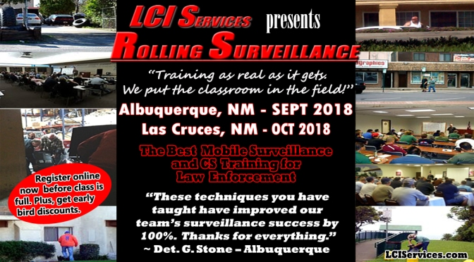 Rolling Surveillance is Coming to Albuquerque, NM and Las Cruces, NM is Sept and Oct 2018