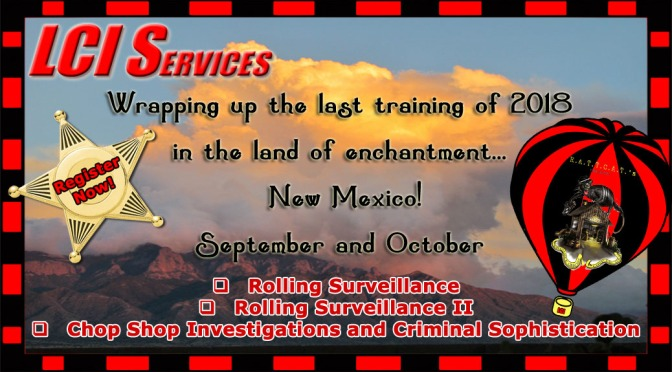 Beautiful Skies and Law Enforcement Training in New Mexico!