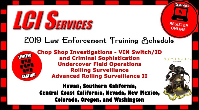 2019 Law Enforcement Training Schedule Online Registration